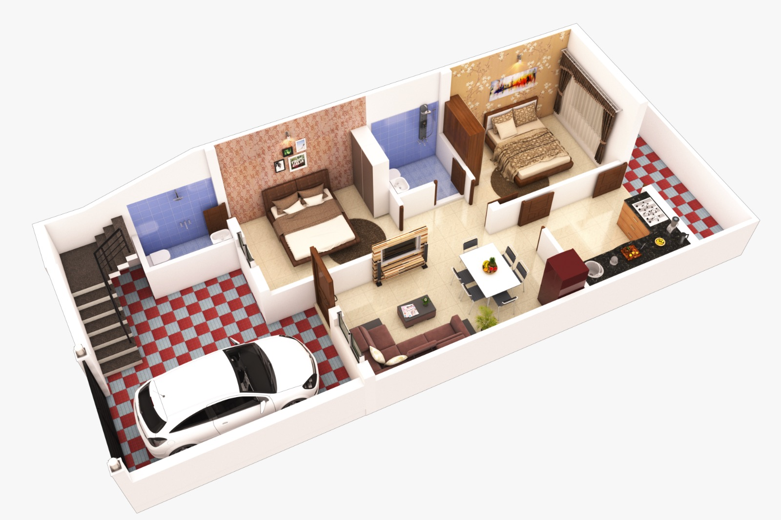 2 BHK North Facing